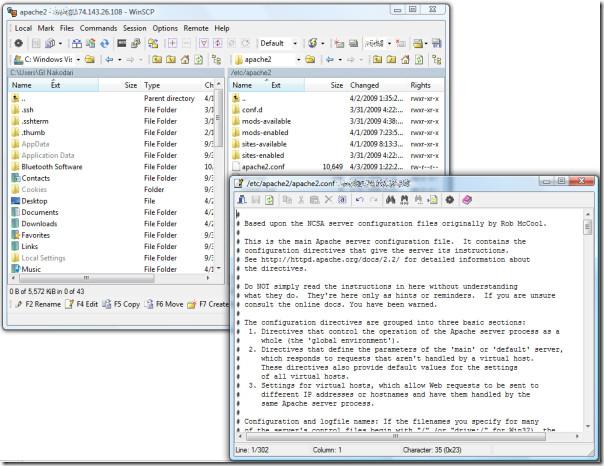 editing apache config file
