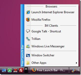 free launch bar main