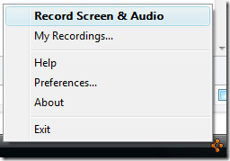 goview screen recorder system tray icon