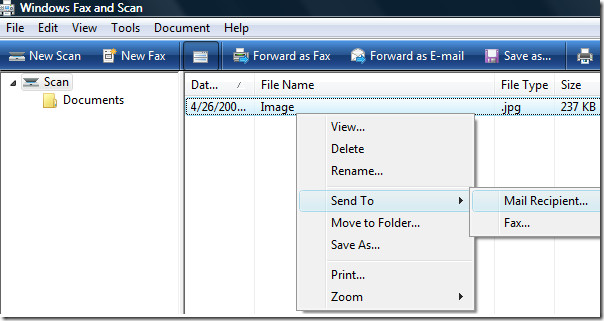 managing scanned images