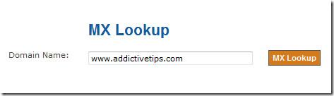 mx lookup tool