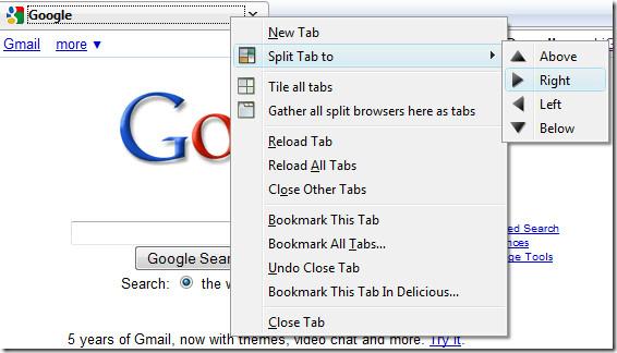 opening tab in new window