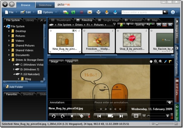 pictomio image viewer