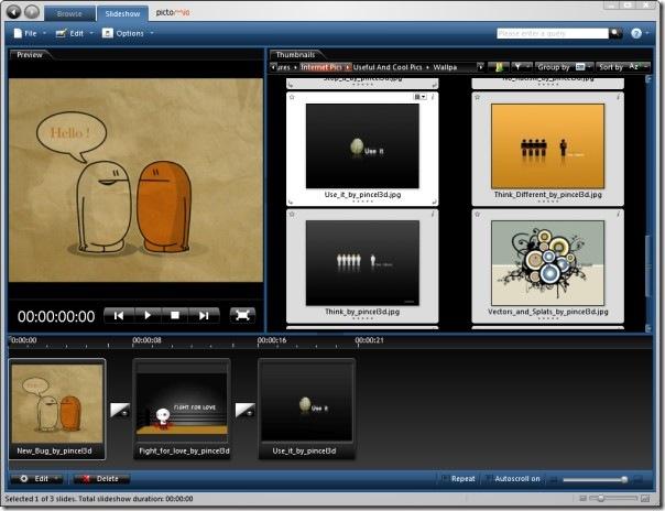 pictomio  slideshow photos