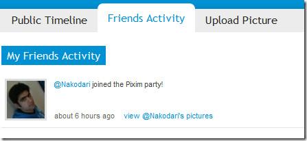 Pixim Friends Activity