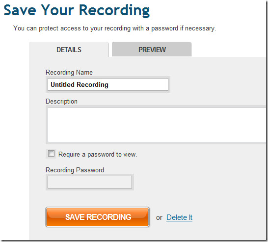 save your screencast recording
