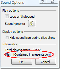 sound options powerpoint