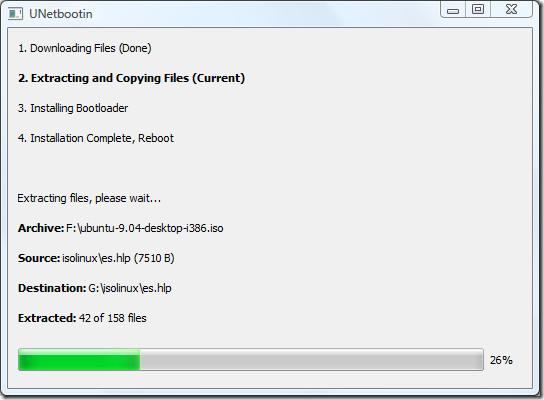 ubuntu extracting and copying files