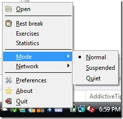 workrave modes