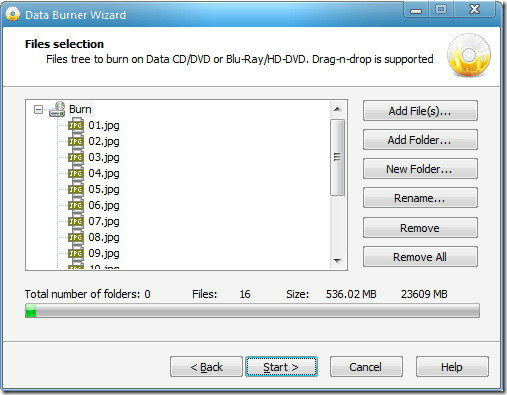 adding files to blu-ray disk - BDdecrypter