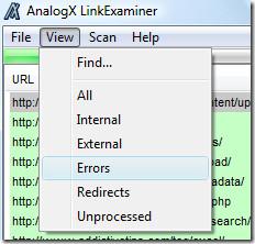 analogx link filtering