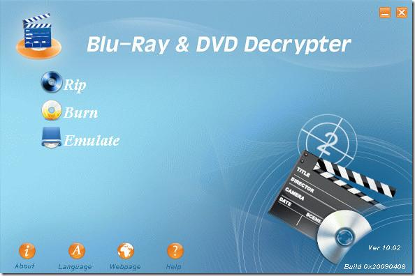 Blu-ray Dvd Decrypter main screenshot