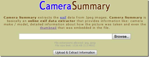 camera summary main