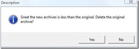delete original archive
