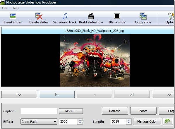 photostage main control preview pane