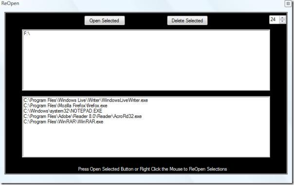 reopen main screenshot