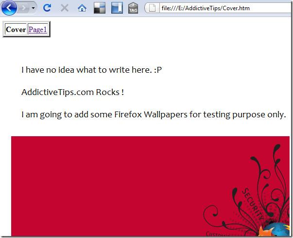 scrapbook in HTML web browser