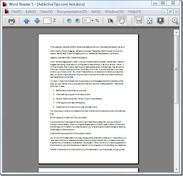 Word Reader main screenshot