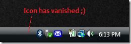 hiding auto clicker typer system tray icon