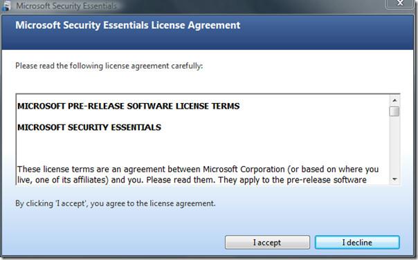microsoft security essentials - installation 2