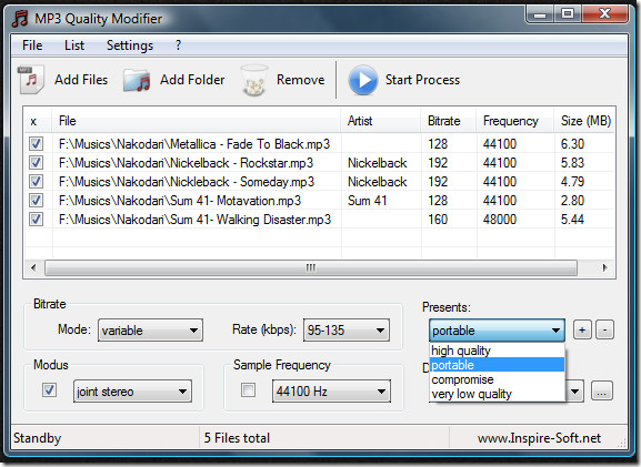 mp3 quality modifier - compress mp3