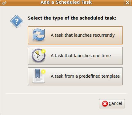 new-task-gnome-schedular