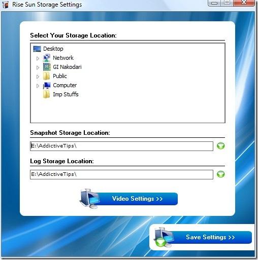 rise sun storage screenshot