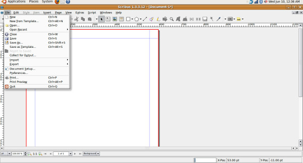 scribus-file-menu