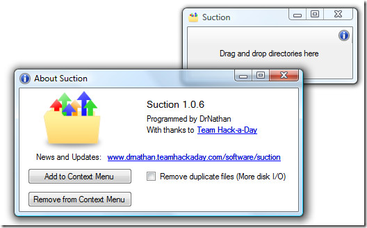 suction consolidates folders screenshot