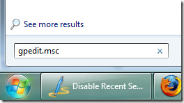 windows 7 start search