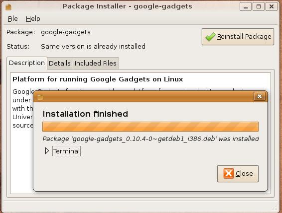 google-gadgets-installation-progress