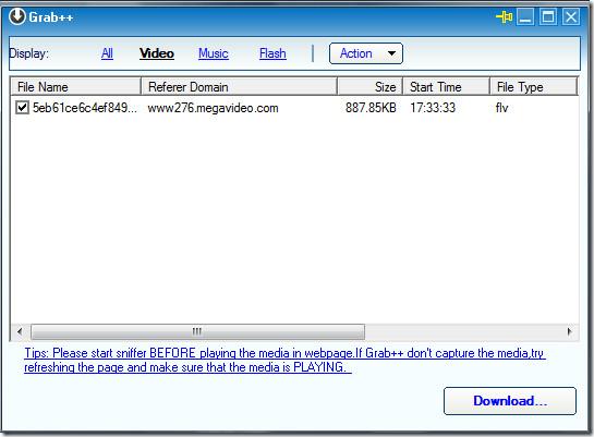 grab   orbit downloader screenshot