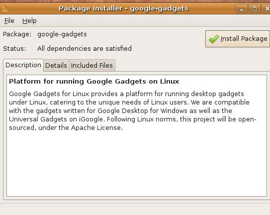 install-google-gadgets