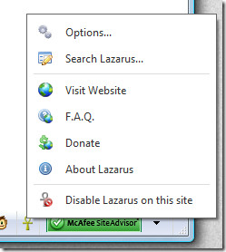 lazarus recover text form browser