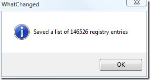saved regsitry list