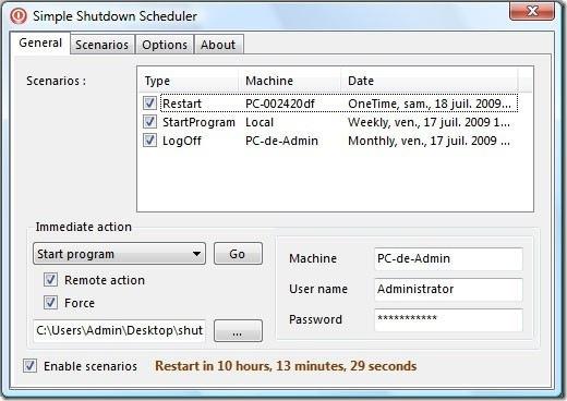 simple shutdown scheduler main screenshot