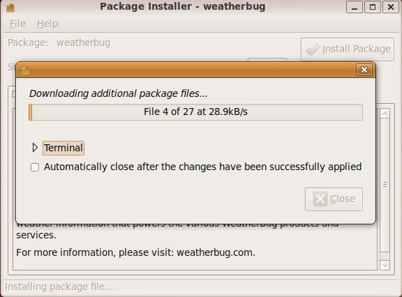 weatherbug-installing