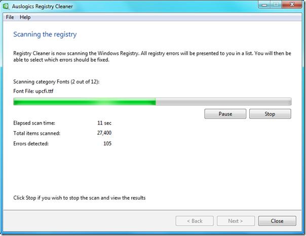 windows 7 scan registry
