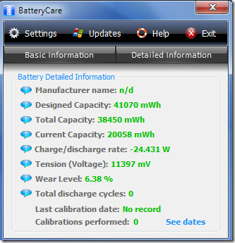 Battery Care Detailed Information