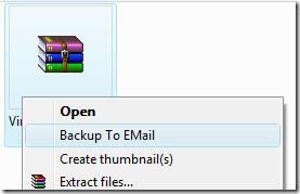 backup to email context menu