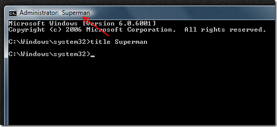 change title bar of command prompt