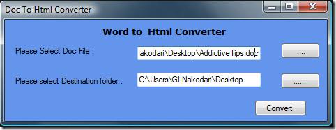 doc to html converter