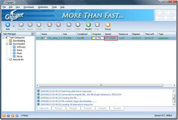gigaget download manager