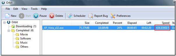 orbit download manager speed