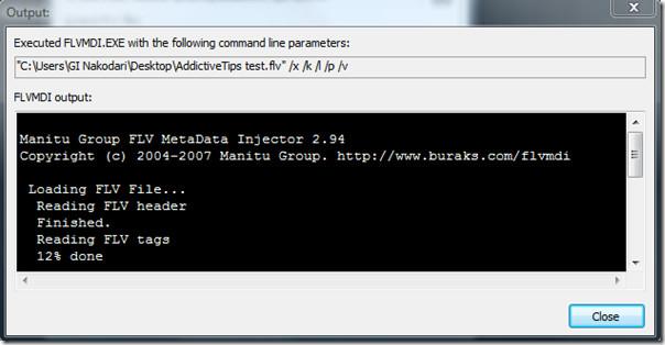 output flv metadata