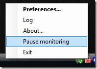 pause monitoring