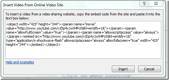 powerpoint insert video from youtube