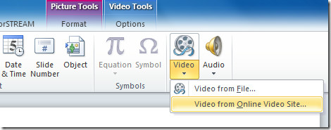powerpoint video from online video site