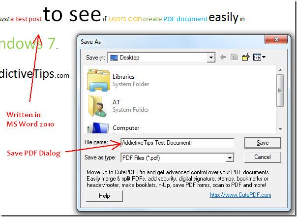 save pdf document windows 7