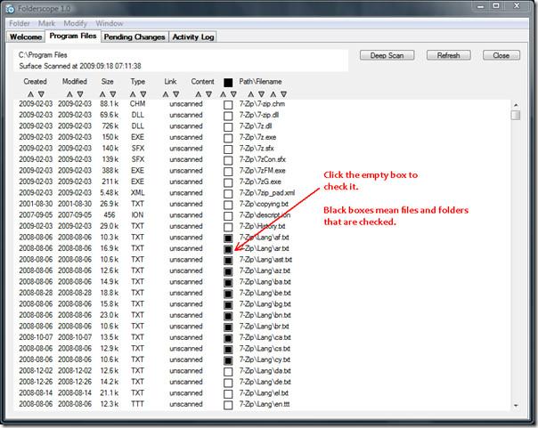 Analyze Folder